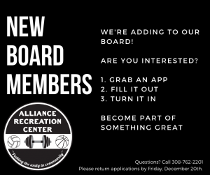 arc board of directors alliance recreation center