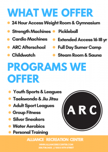Alliance Rec Center January Special